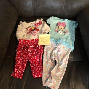 Sesame Street Disney Baby Girl Ruffle butt Outfits